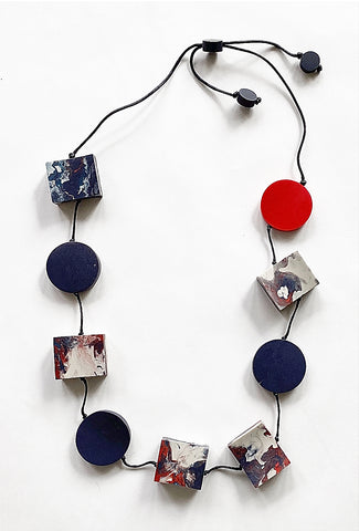 Sylca Designs Livia Necklace, Navy