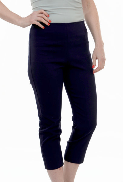 Equestrian Mindy Cropped Pant, Navy