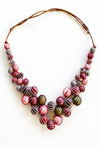 Sylca Designs Olivia Necklace, Merlot