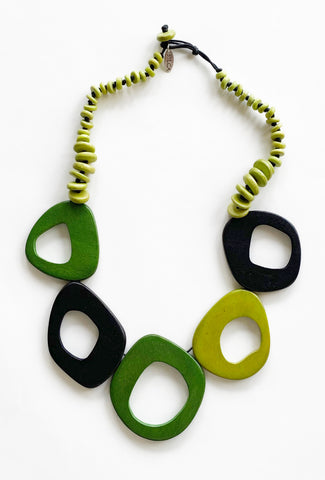 Sylca Designs Roslyn Necklace, Green