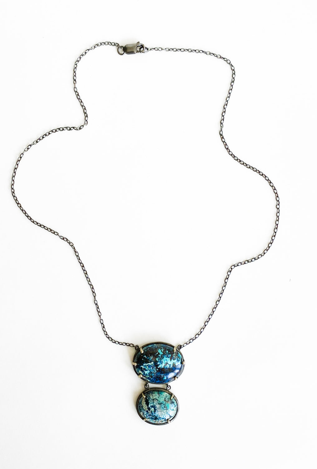 Robindira Unsworth Double Chrysacolla Necklace