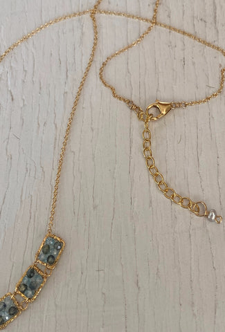 Michelle Pressler MP Blue Zircon/Sapphire Necklace