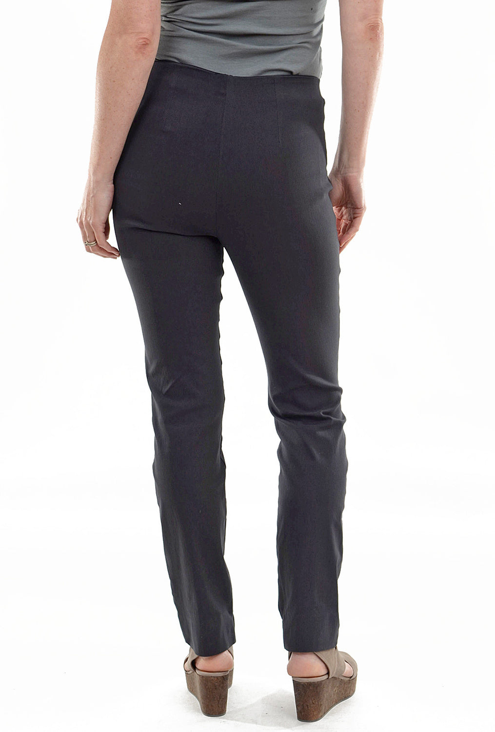 Equestrian Zani Long Stretch Twill Pant, Dark Gray