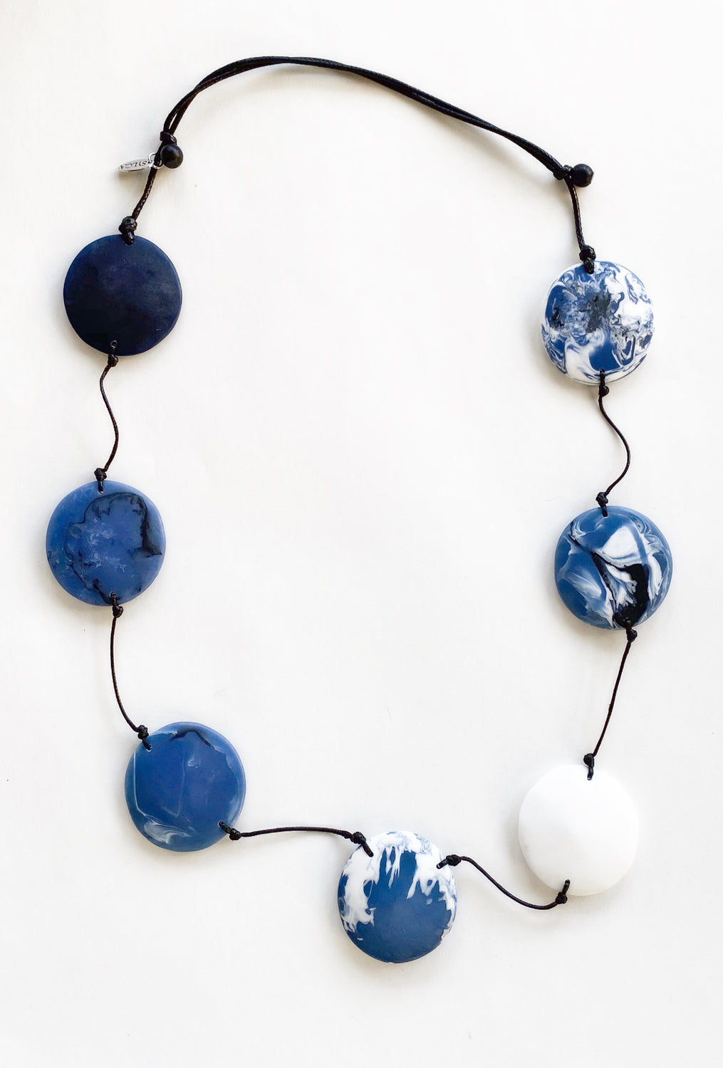 Sylca Designs Tori Necklace, Blue/White