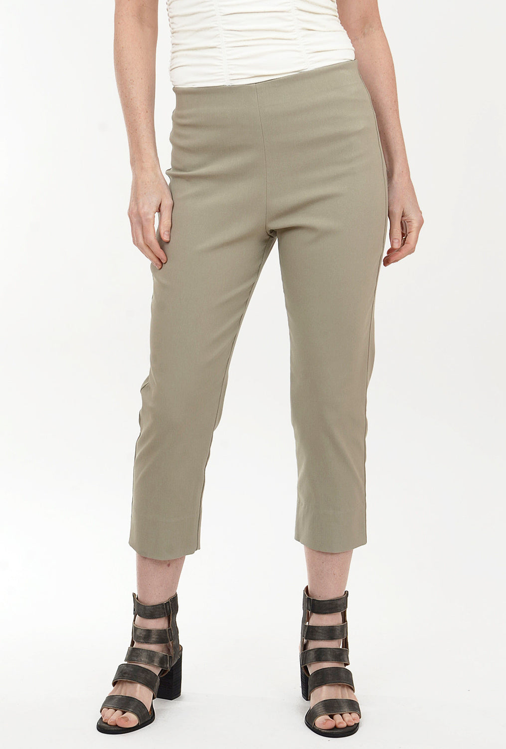Equestrian Mindy Cropped Pant, Putty