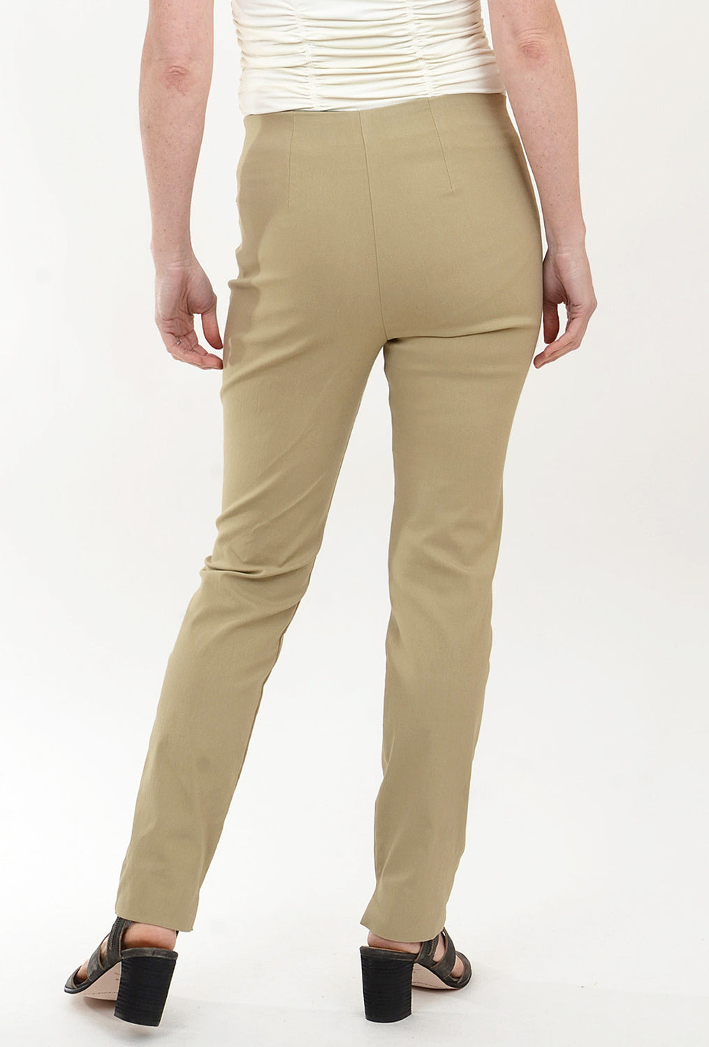 Equestrian Zani Long Stretch Twill Pant, Khaki