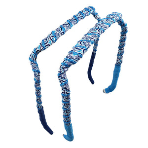 Blue Cathedral Headband - Zazzy Bandz - hair accessory - curly hair