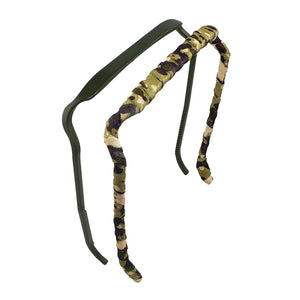 Dark Olive + Camouflage Two-Pack - Zazzy Bandz - hair accessory - curly hair