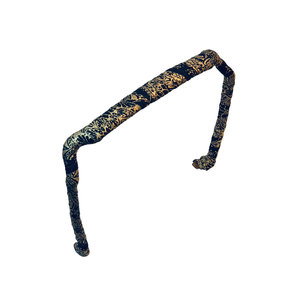 Texture of Gold and Black Headband - Zazzy Bandz