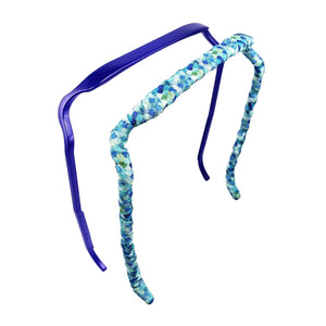 Blue + Sea Glass Two-Pack - Zazzy Bandz - hair accessory - curly hair