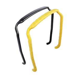 Dark Charcoal + Canary Yellow Two-Pack - Zazzy Bandz - hair accessory - curly hair