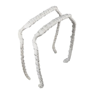 Lt. Grey Ruffles Headband - Zazzy Bandz - hair accessory - curly hair