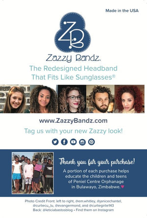Marketing Cards - Zazzy Bandz - hair accessory - curly hair
