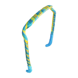 Stripes of Yellow and Blue Headband - Zazzy Bandz