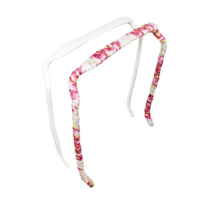 White + Pink Hibiscus Two-Pack - Zazzy Bandz - hair accessory - curly hair