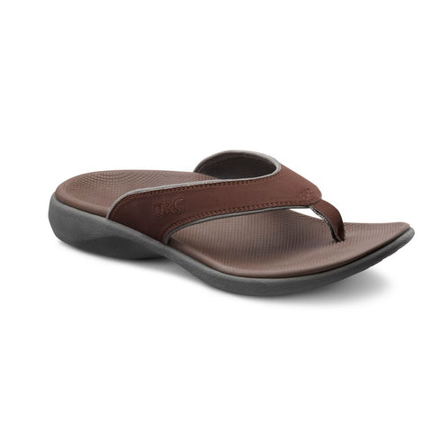 Dr. Comfort Men Ortho Sandals- Collin - Chocolate