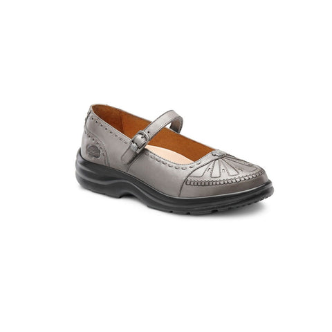 Dr. Comfort Women's Causal Diabetic Shoes - Paradise - Pewter