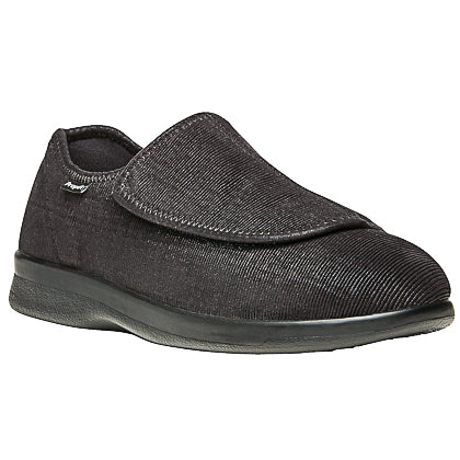 Propet's Men Diabetic Wellness Shoes - Cush 'N Foot M0202- Black Corduroy