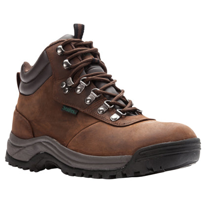 Propet's Men Diabetic Winter Boots- Cliff Walker M3188- Brown Crazy Horse