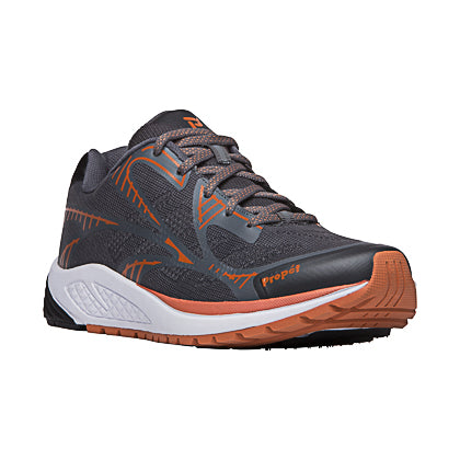 Propet's Men Walking Shoes - Propet One Lt MAA022M- Dark Grey/Burnt Orange