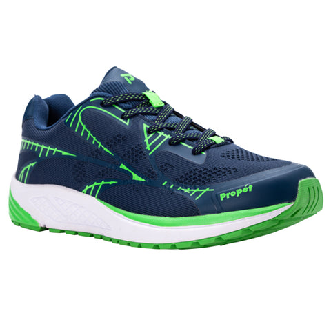 Propet's Men Walking Shoes - Propet One Lt MAA022M- Navy/Lime