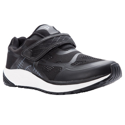 Propet's Men Diabetic Walking Shoes - Propet One Strap MAA023M- Black/Grey