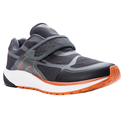 Propet's Men Diabetic Walking Shoes - Propet One Strap MAA023M- Burnt Orange/Dark Grey