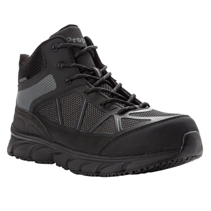 Propet's Men Diabetic Working Boots - Seeley Hi MAU022M- Dark Grey/Black