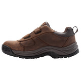 Propet's Men Diabetic Work Boot - Cliff Walker Low Strap MBA023L- Brown Crazy Horse