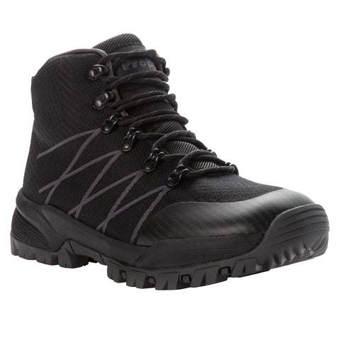 Propet's Men Work Boots- Traverse MBA042K- Black/Dk Grey