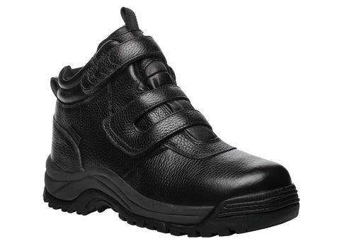 Propet's Men Diabetic Winter Boots- Cliff Walker Strap MPRX85 - Black