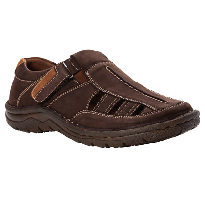 Propet's Men Diabetic Sandals - Jack MSA013S- Coffee