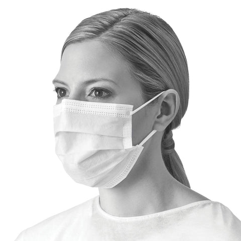 Medline Level I Fluid Resistant  Procedure Face Mask- Earloop