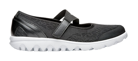 Propet Women's Active Shoe - TravelActiv Mary Jane W5103- Black