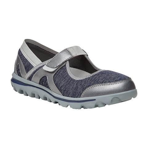 Propet Women Diabetic Mary Jane Shoes - Onalee WAA003J - Blue/Silver
