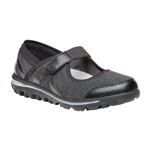 Propet Women Diabetic Mary Jane Shoes - Onalee WAA003J - Grey/Black