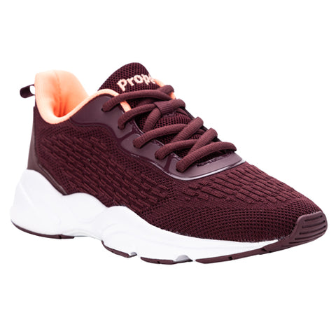 Propet Women's Stability Shoe- Stability Strive WAA212M - Burgundy/ Coral