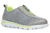 Propet Women's -Travel Active Zip -WAT005 - Silver/Lime
