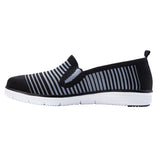 Propet Women's Casual TravelFit Slip on - WAT044M - Black/ Grey