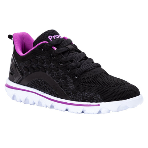 Propet Women's TravelActiv Axial WAT092M- Black/Purple