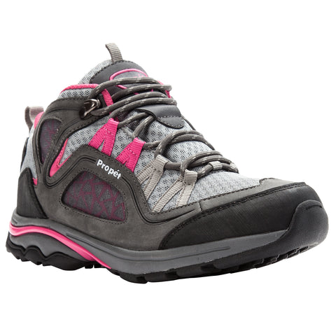 Propet Women's Diabetic Working Boots - Peak WBA002M - Grey/Berry
