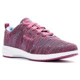 Propet Women's Washable Walker Revolution Slip Resistant- WCS012M - Berry/Blue