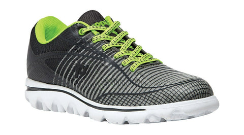 Propet Women Active Walking Shoes - Billie W5100 - Grey/Lime