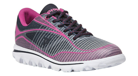 Propet Women Active Walking Shoes - Billie W5100 - Navy/Pink