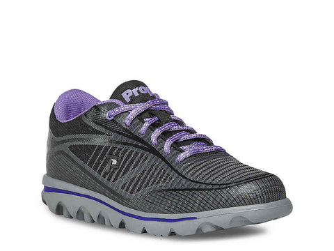 Propet Women Active Walking Shoes - Billie W5100 - Black/Purple