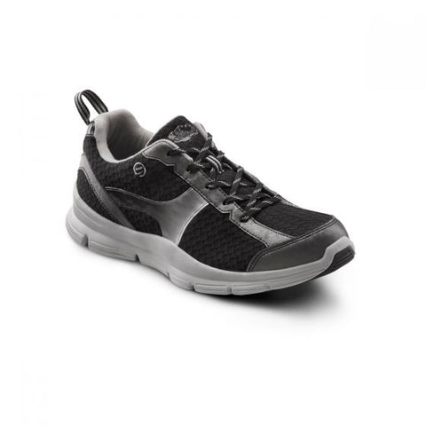 Dr. Comfort Men's Athletic Diabetic Shoes - Chris - Black