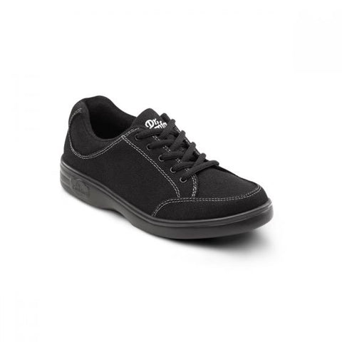 Dr. Comfort Women's Casual Diabetic Sneaker - Riley - Black