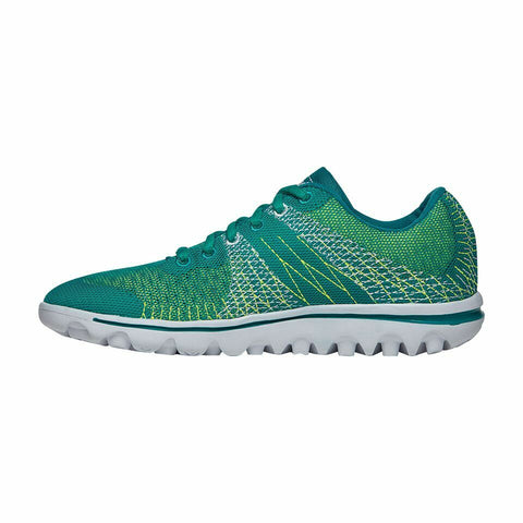 Propet Women Active Walking Shoes - TravelActiv Knit WAT002K- Green/Yellow