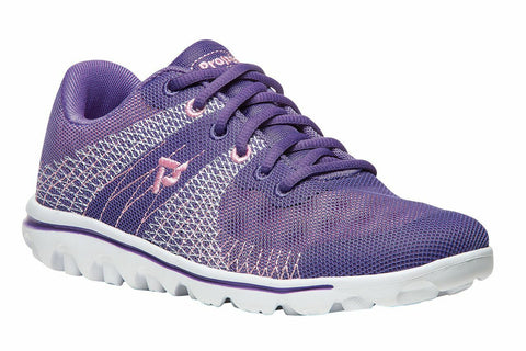 Propet Women Active Walking Shoes - TravelActiv Knit WAT002K- Purple/Pink