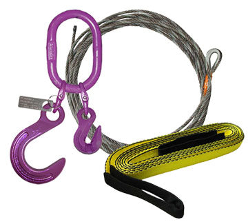 Recovery Foundry Hook, Oblong and Grab Hook | Winch Cable with no hooks